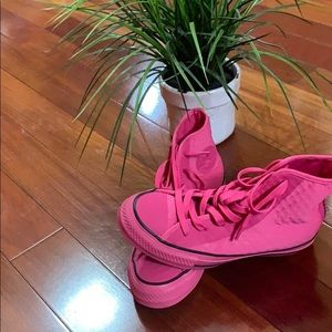 Converse Shoes - Pink High Top Converse (NWOT)